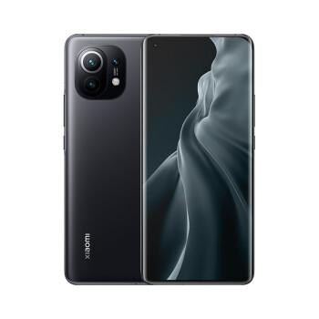 小米11 5G 骁龙888 2K AMOLED四曲面柔性屏 1亿像素 55W有线闪充 50W无线闪充 8GB+256GB 黑色 ゲームスマートフォン